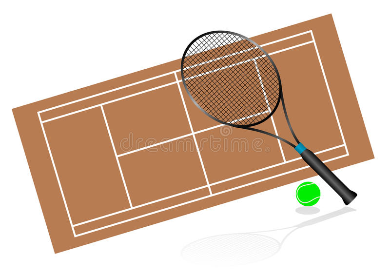 Download Tennis Illustration With Rackets And Terrain Stock Illustration - Image: 14290317