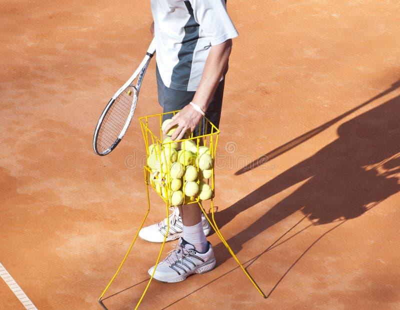 Download Tennis instructor stock image. Image of racket, summer - 19391485