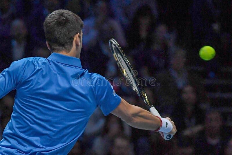 Tennis Intercitizens Nitto ATP Final NOVAK DJOKOVIC VS ROGER FEDERER arkivbilder