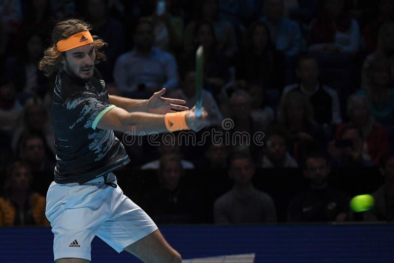 Tennis Intercitizens Nitto ATP Finals - Tournament - Daniil Medvedev mot Stefanos Tsitsipas fotografering för bildbyråer