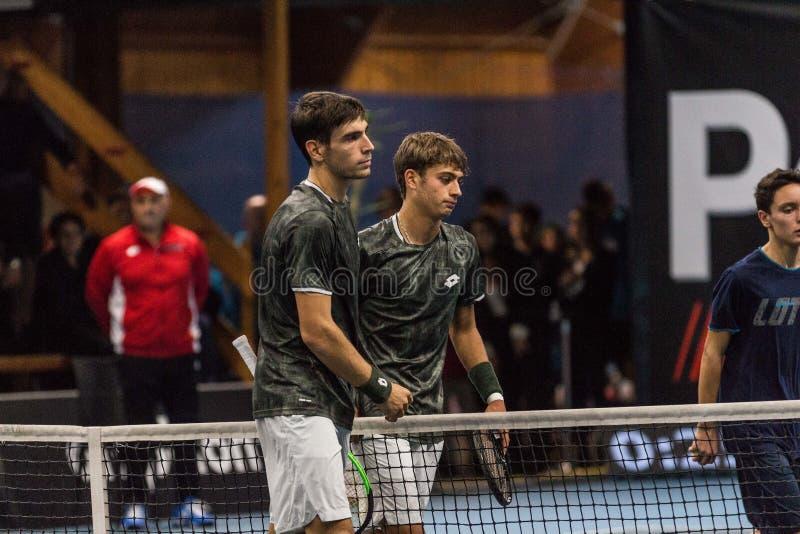 Tennis Internationals NextGen ATP-kvalifikationer fotografering för bildbyråer