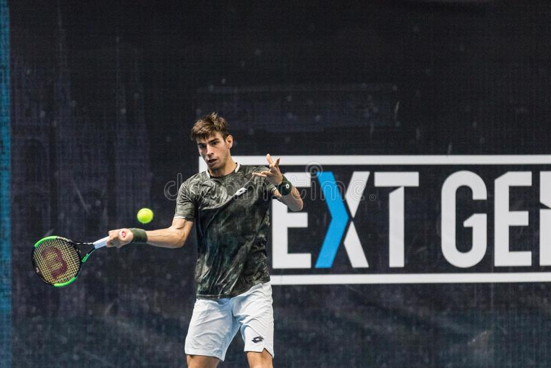 Tennis Internationals NextGen ATP-kvalifikationer arkivbilder