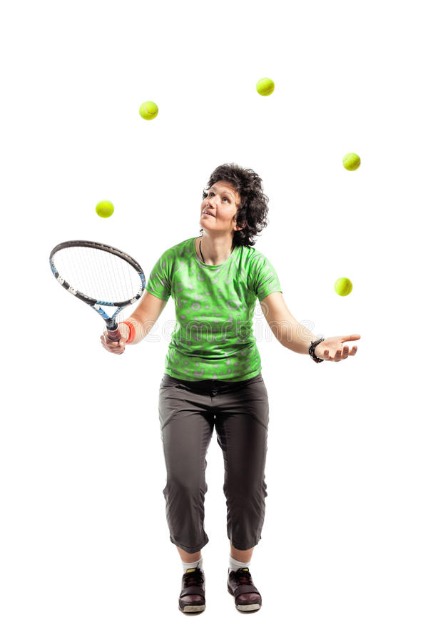 Download Tennis juggler stock photo. Image of juggler, recreational - 26953864