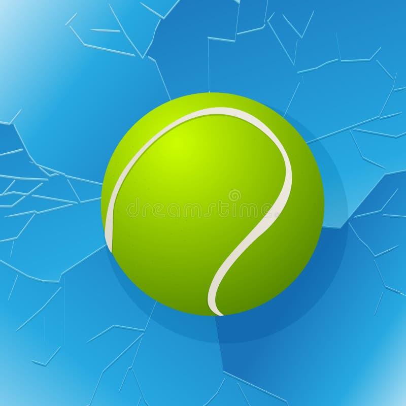 Tennis klumpa ihop sig och fönstret royaltyfri illustrationer