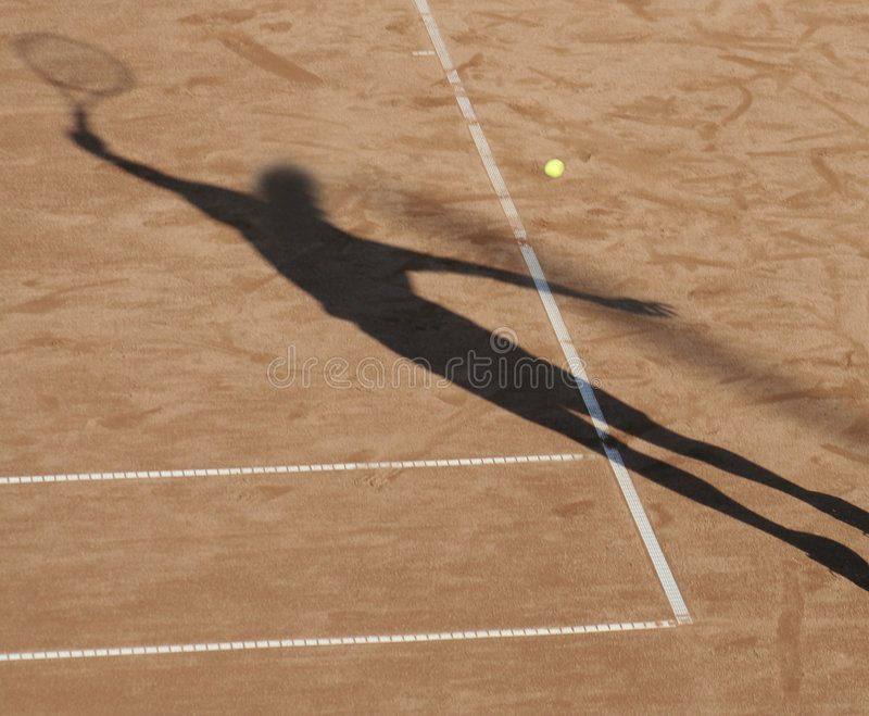 Download Tennis Man Shadow Royalty Free Stock Images - Image: 1240399