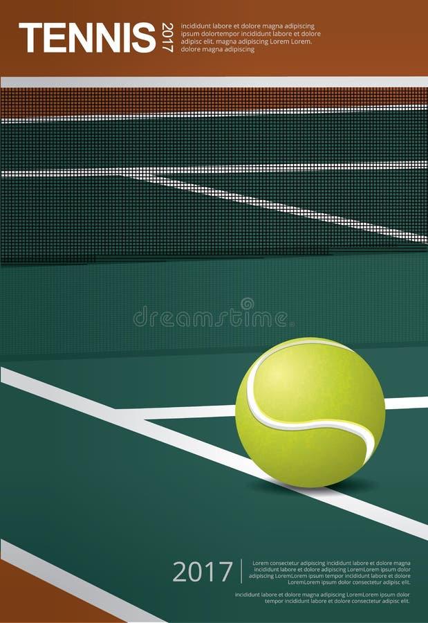 Tennis-Meisterschafts-Plakat vektor abbildung