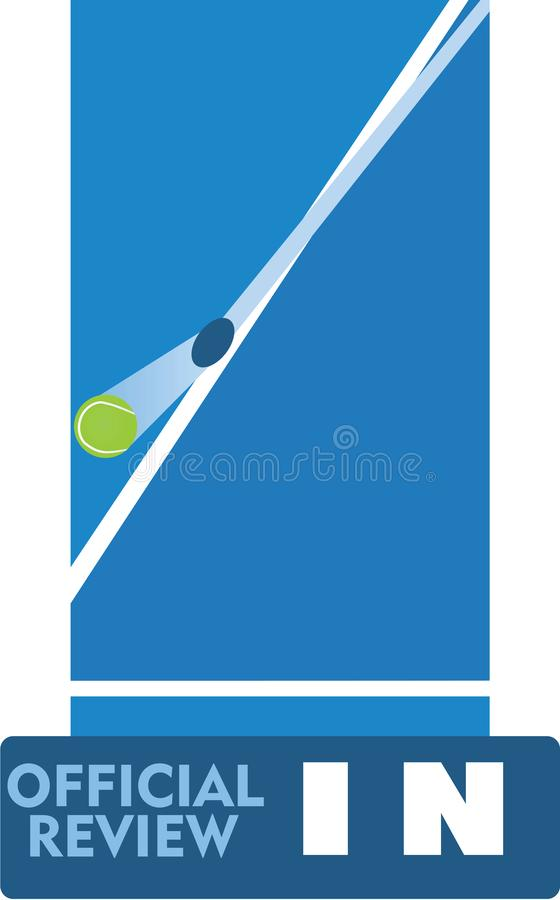 Tennis official review. Vector illustration royalty free illustration