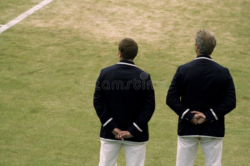 Tennis Officials royalty free stock images