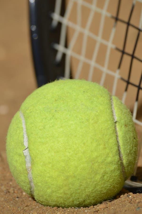 Tennis opleiding in wildernis royalty-vrije stock fotografie