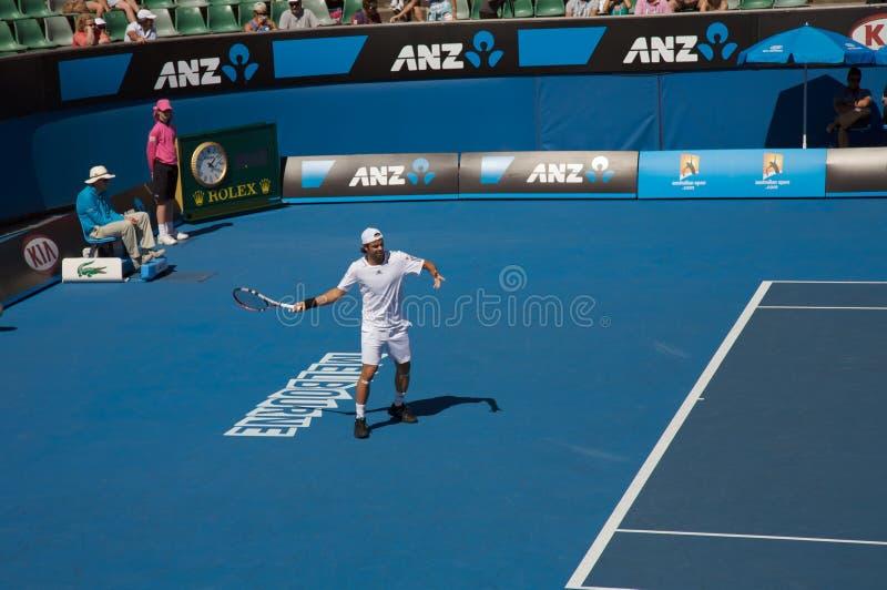 Tennis ouvert d'Australien, Fernando Gonzalez photo stock