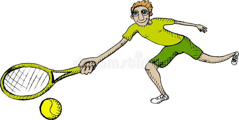 Download Tennis player stock vector. Image of drawn, active, sport - 23046488