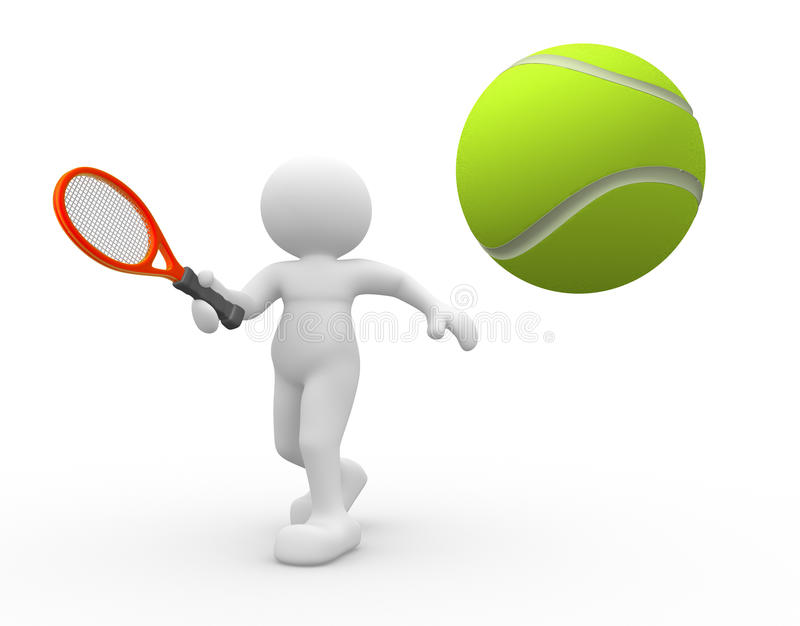 Download Tennis player stock illustration. Image of motion, activity - 23690772