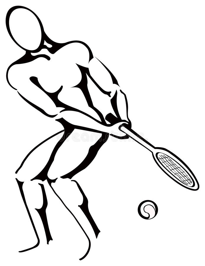 Download Tennis player stock vector. Image of control, racket - 24283965