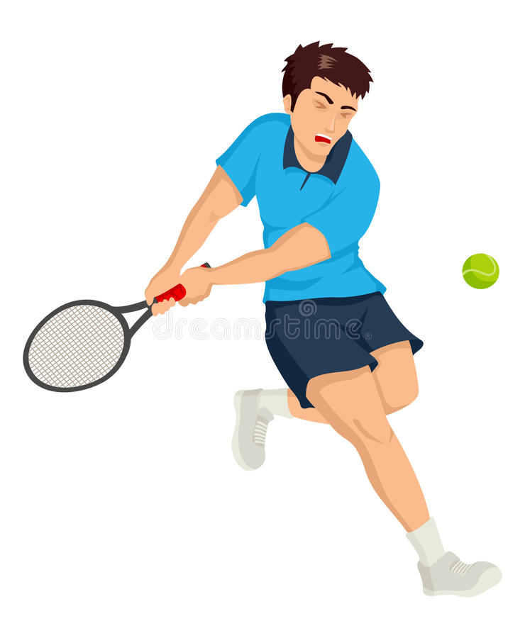 Download Tennis Player stock vector. Image of graphic, ball, match - 29159895