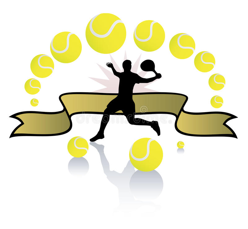 Download Tennis player and balls. stock vector. Illustration of woman - 11174639