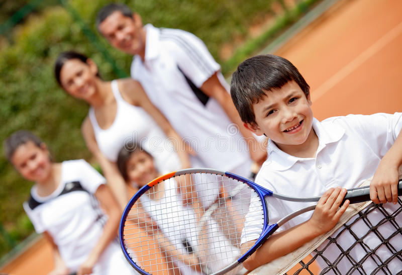Download Tennis player and family stock image. Image of childhood - 23159893