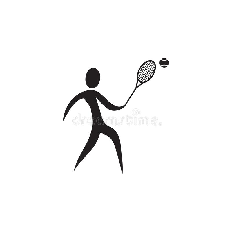 tennis player icon. Elements of sportsman icon. Premium quality graphic design icon. Signs and symbols collection icon for website vector illustration