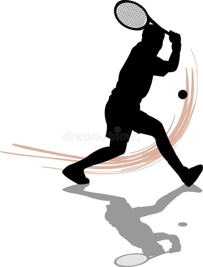 Tennis Player Man. Illustration of a man playing tennis