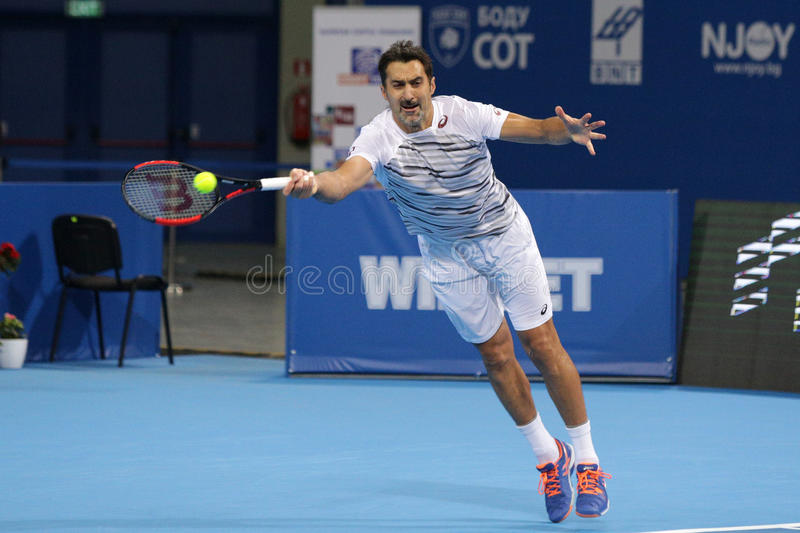 Tennis player Nenad Zimonjic stock images
