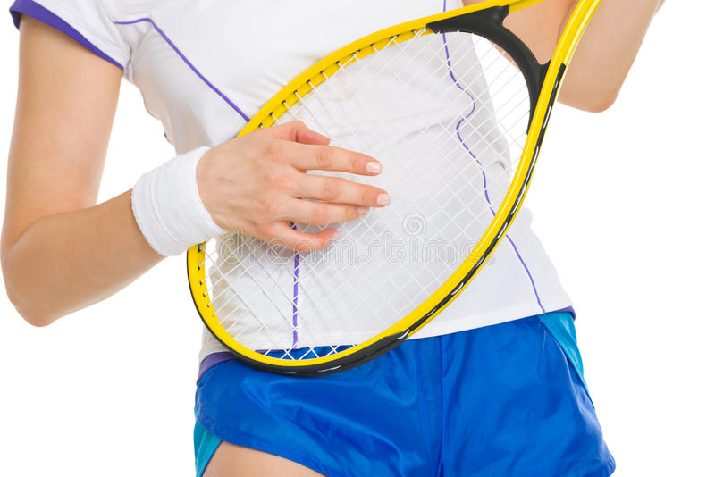 Tennis Player Playing On Racket As On Guitar Stock Images