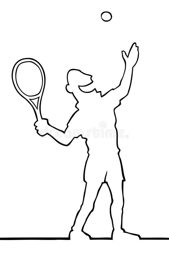 Tennis player serving the ball royalty free stock image