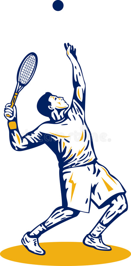 Download Tennis player serving ball stock vector. Illustration of tennis - 7236295