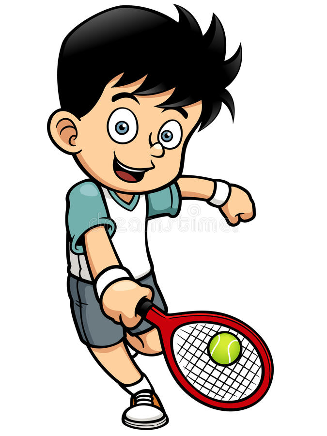 Tennis Player royalty free illustration