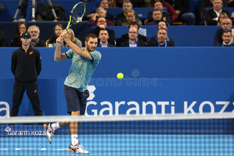 Tennis player Viktor Troicki stock photography