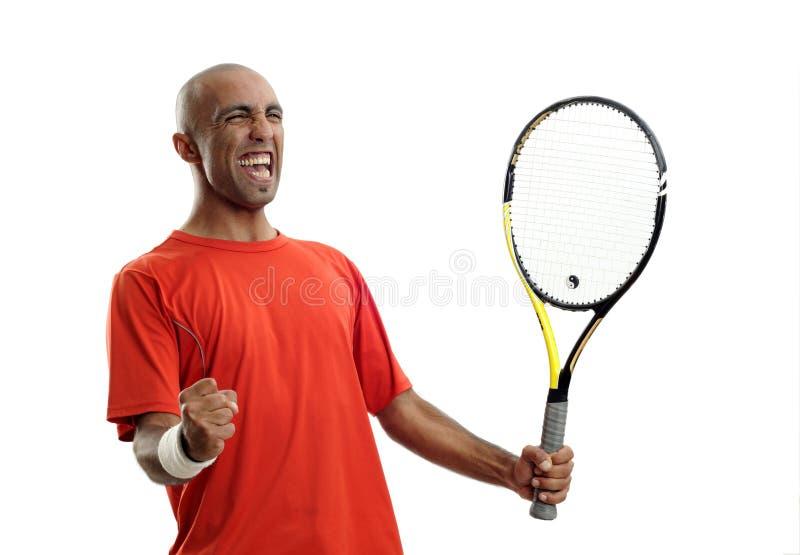 Tennis player winner stock photo