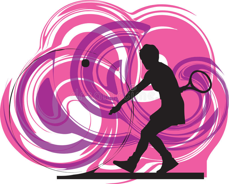 Download Tennis Players Illustration. Stock Vector - Image: 15416323