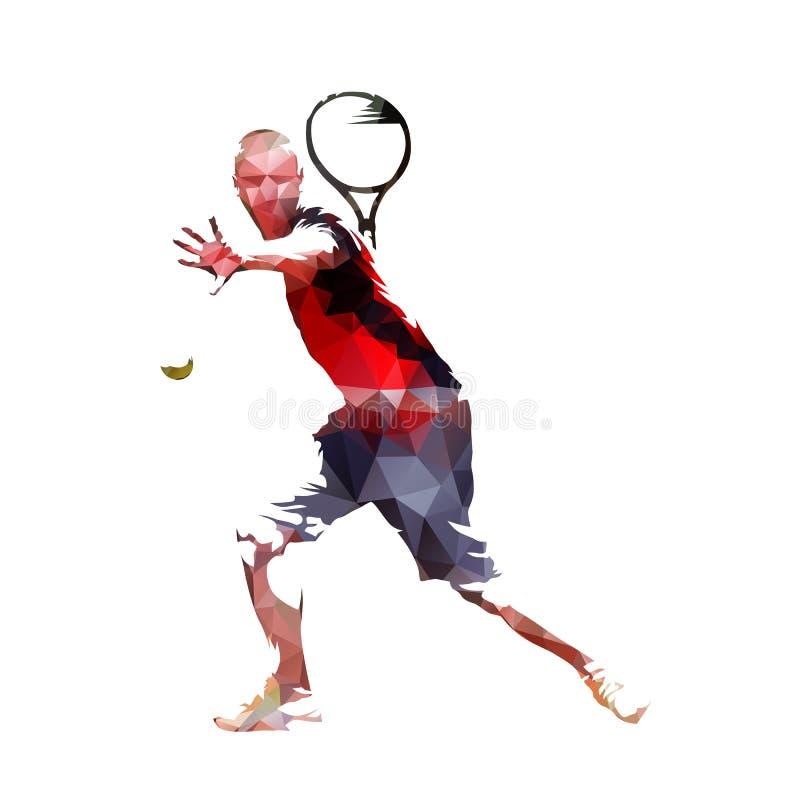 Tennis, poli illustrazione bassa di vettore royalty illustrazione gratis