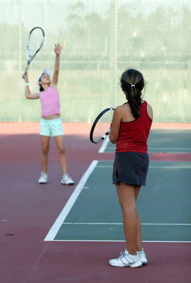 Tennis practice stock photos