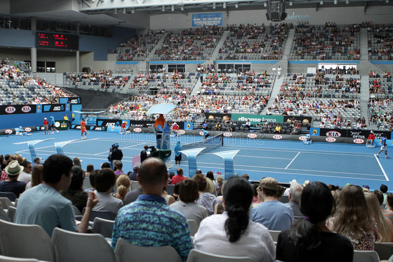 Tennis professionnel à l'Australien 2012 ouvert photo stock
