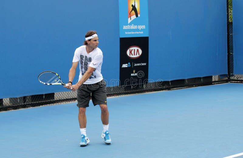 Tennis professionnel à l'Australien 2012 ouvert photographie stock