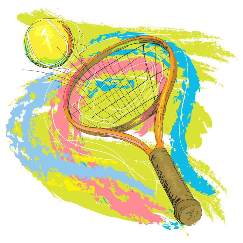 Download Tennis Racket And Ball Stock Photo - Image: 21386060