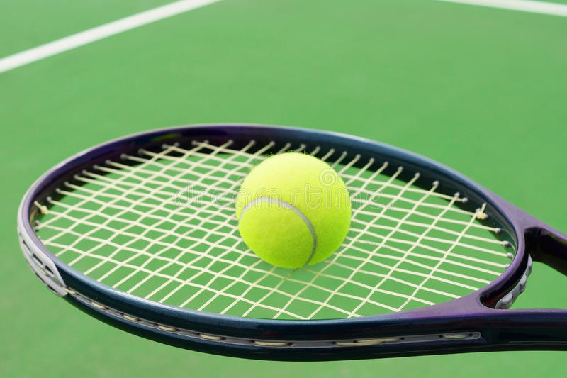Download Tennis racket with ball stock photo. Image of hard, graphite - 32104956