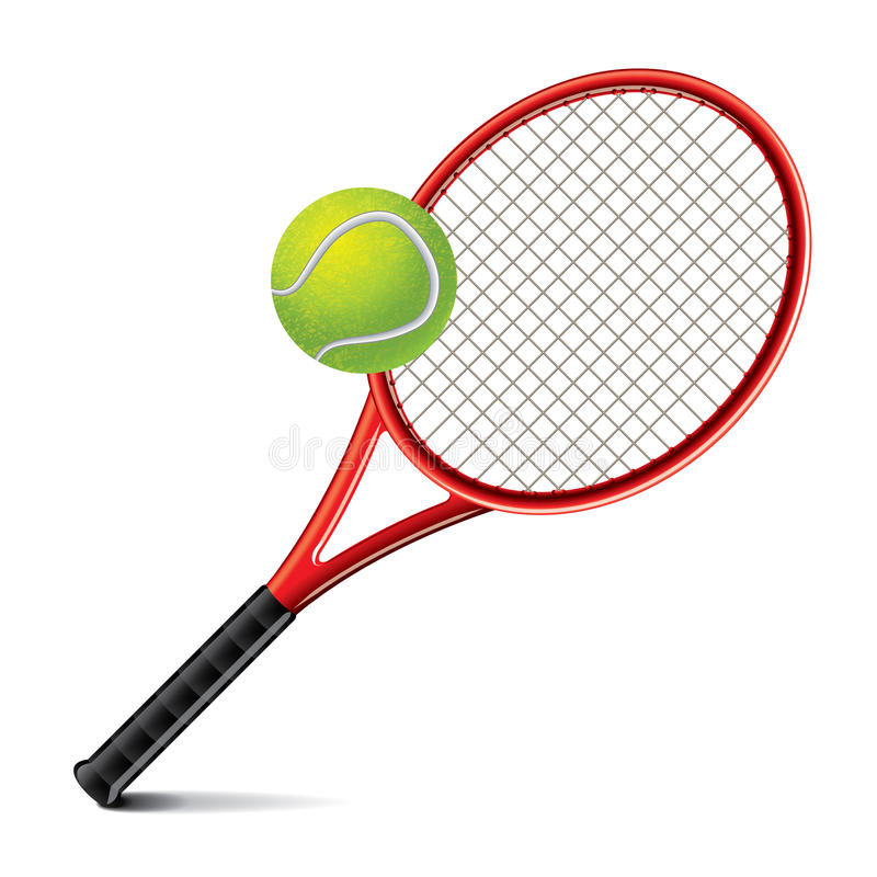 Tennis Racket And Ball Vector Illustration Stock Vector