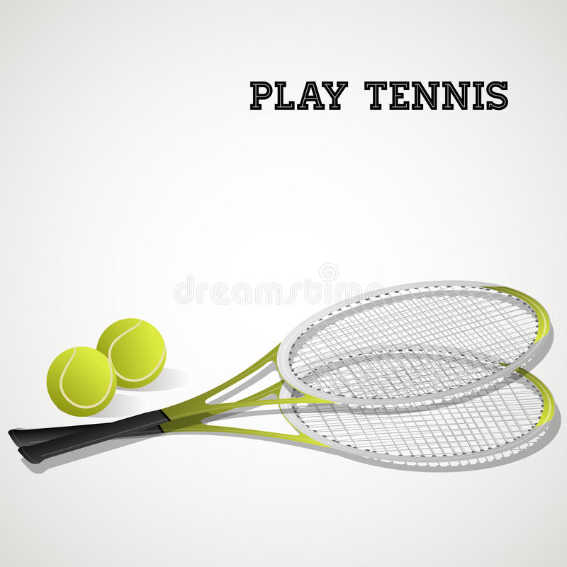 Tennis rackets and balls