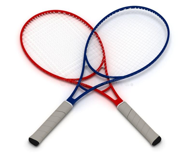 Tennis Rackets stock image