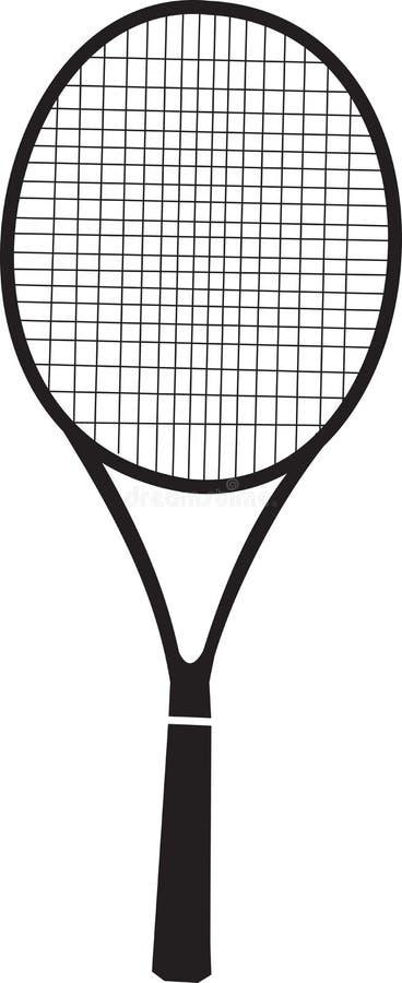 Download Tennis Racquet Black Silhouette Stock Vector - Image: 40560348