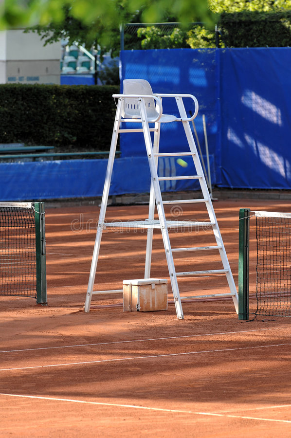 Tennis referee chair stock photos