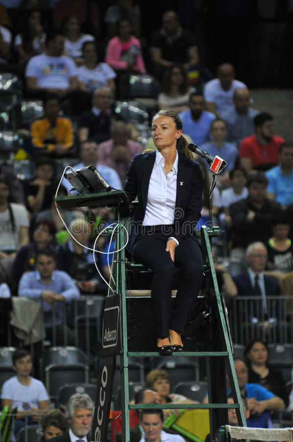 Tennis referee, chair umpire royalty free stock images