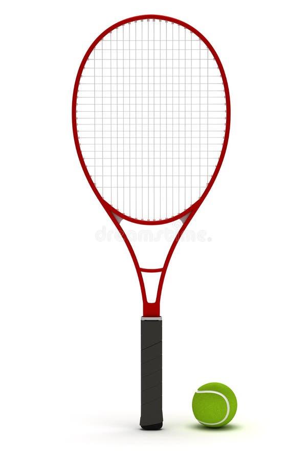 Tennis-Schläger stock abbildung