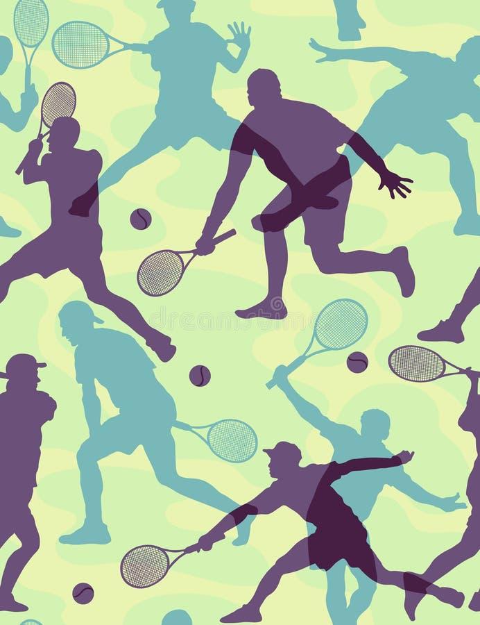 Free Tennis - Seamless Wallpaper Royalty Free Stock Image - 8146036