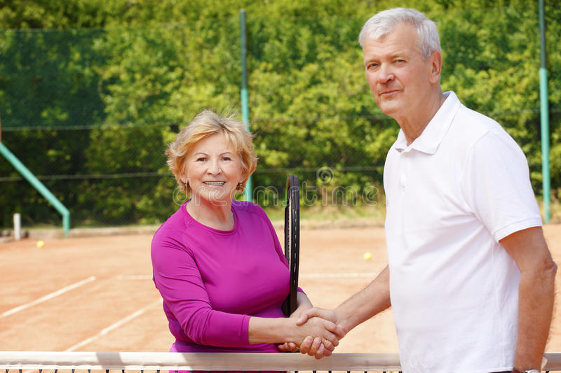 Tennis senior fotografie stock