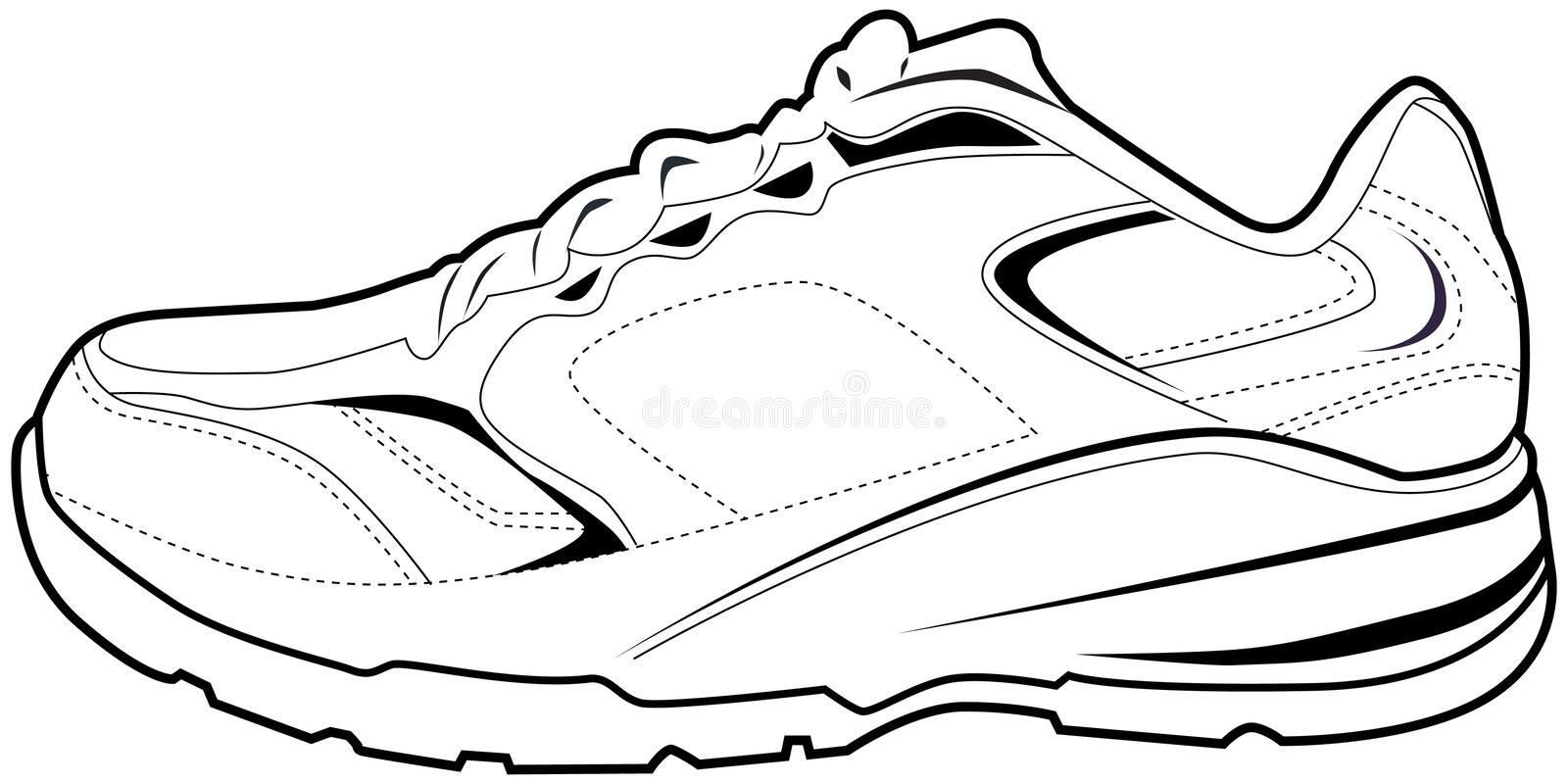 tennis shoe stock vector illustration of sportswear 12624100 rh dreamstime com tennis shoe sole vector Shoe Print Vector
