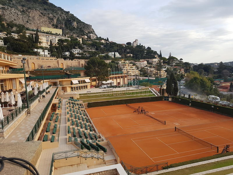 Tennis, sport, Monaco image stock