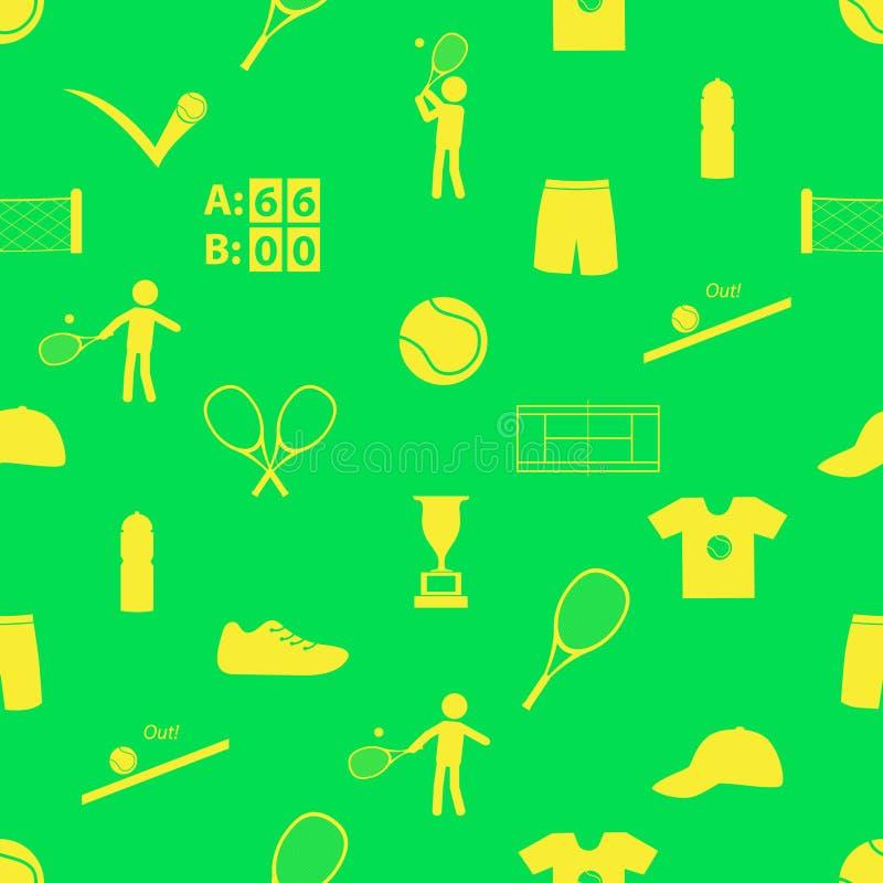 Tennis sport theme seamless green pattern eps10. Tennis sport theme seamless green pattern vector illustration