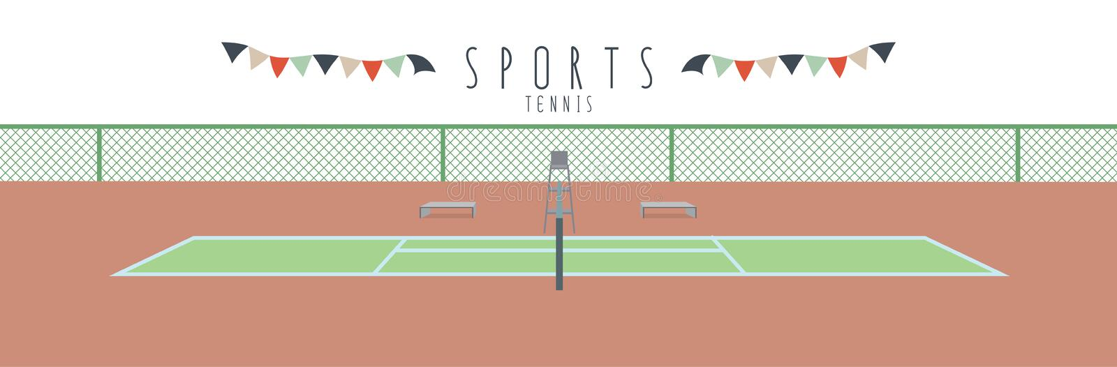 Tennis (sportar) royaltyfri illustrationer