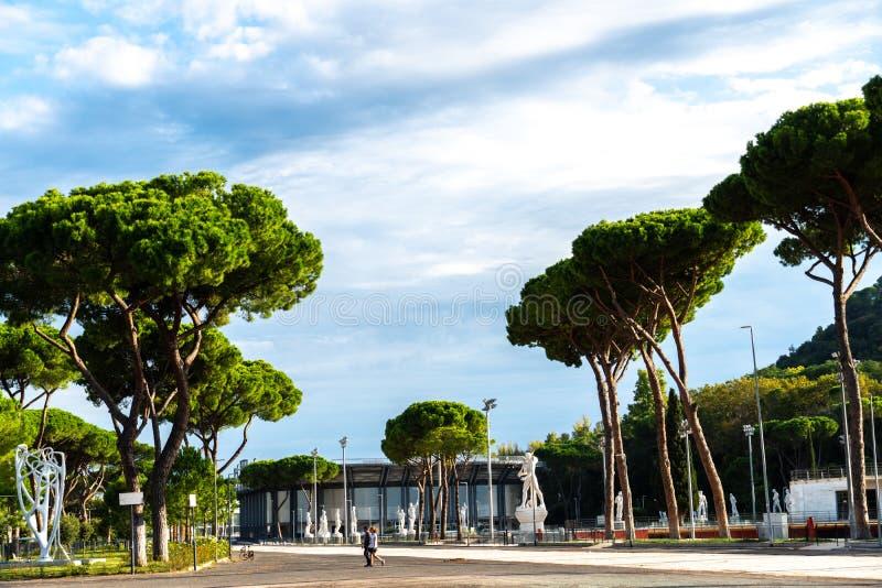 Tennis Stadio Nicola Pietrangeli a Roma, Italia immagini stock libere da diritti